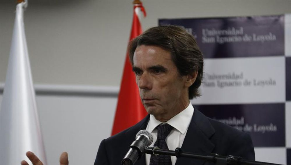 El expresidente español José María Aznar