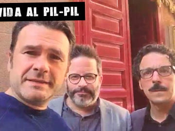 Iñaki López con Edu Galán y Darío Adanti