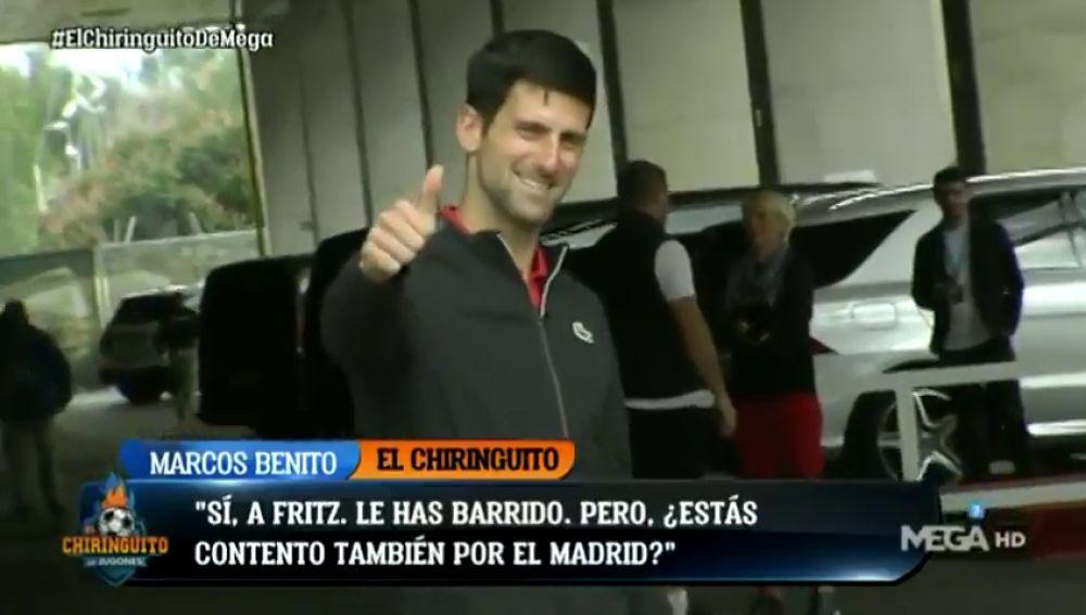 Es el número 1 y actúa como tal: Djokovic y su conversación con Marcos Benito en el Mutua Madrid Open