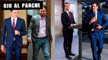 Sánchez, Iglesias, Casado y Rivera