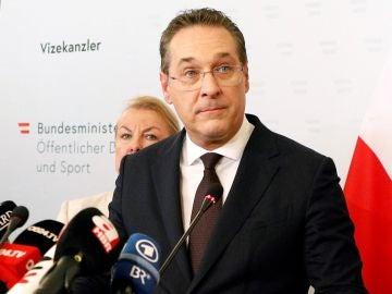 El vicecanciller de Austria y líder de los ultranacionalistas, Heinz-Christian Strache