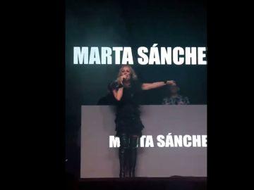 Marta Sánchez durante el concierto