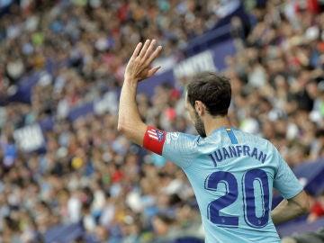 Juanfran, con el brazalete de capitán