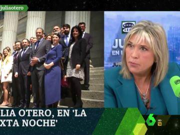 """Julia Otero responde a las palabras de Ortega Smith sobre el aborto: """"No estoy dispuesta a volver a lo que ya debatimos y ganamos en los 80"""""""