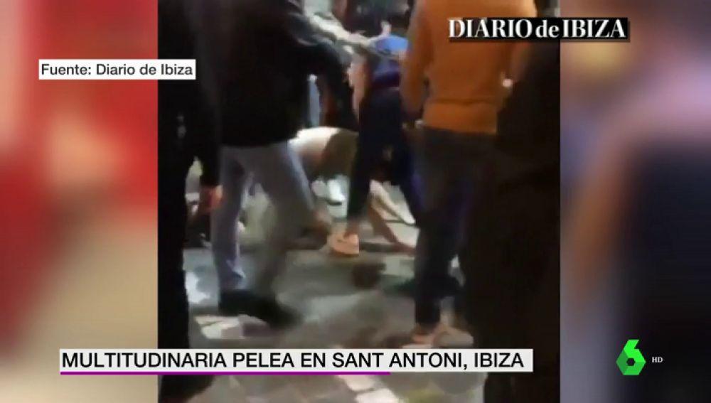 Multitudinaria pelea en Ibiza