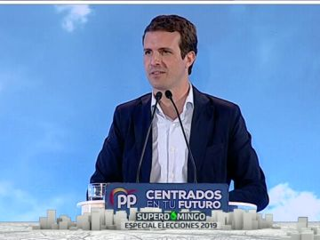 Pablo Casado en un acto de campaña del PP en A Coruña