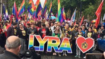 Miles de manifestantes se reúnen en Belfast para exigir el reconocimiento del matrimonio homosexual