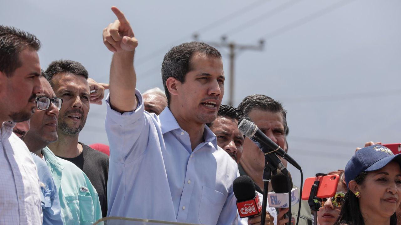 El líder opositor y presidente del Parlamento venezolano, Juan Guaidó