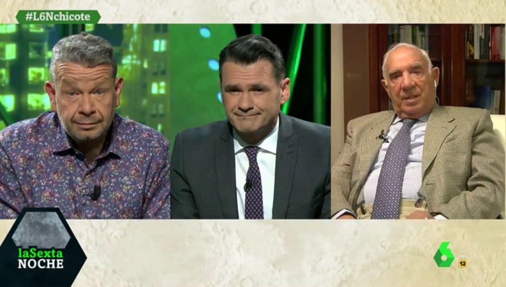 José Vázquez, Iñaki López y Alberto Chicote