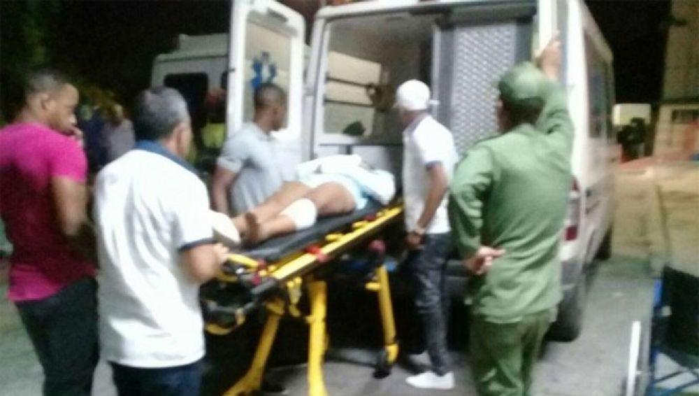 Imagen de uno de los heridos en el accidente