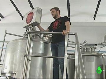 Fábrica de cerveza en una mina de León