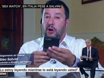 Matteo Salvini durante la entrevista