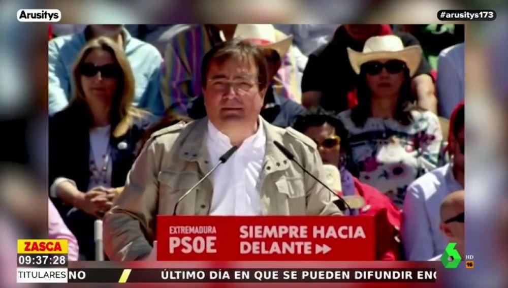 """Fernández Vara (PSOE), sobre los dirigentes de Vox: """"Estos machos de mierda siguen creyendo que son vuestros dueños"""""""