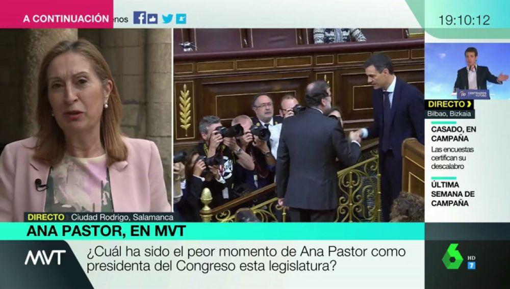 """Ana Pastor confiesa uno de los peores momentos como presidenta del Congreso: """"La moción a Rajoy: fue legal, pero no justa"""""""
