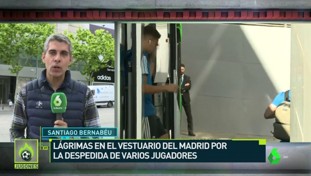 Lágrimas en el vestuario del Madrid por las despedidas