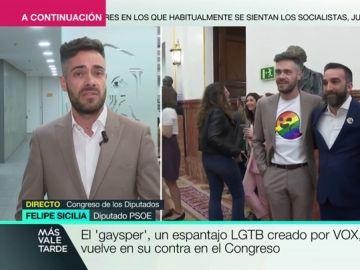 """Felipe Sicilia, tras vestir una camiseta con 'gaysper' en el Congreso: """"Lo que para muchos son fantasmas, para otros son derechos"""""""