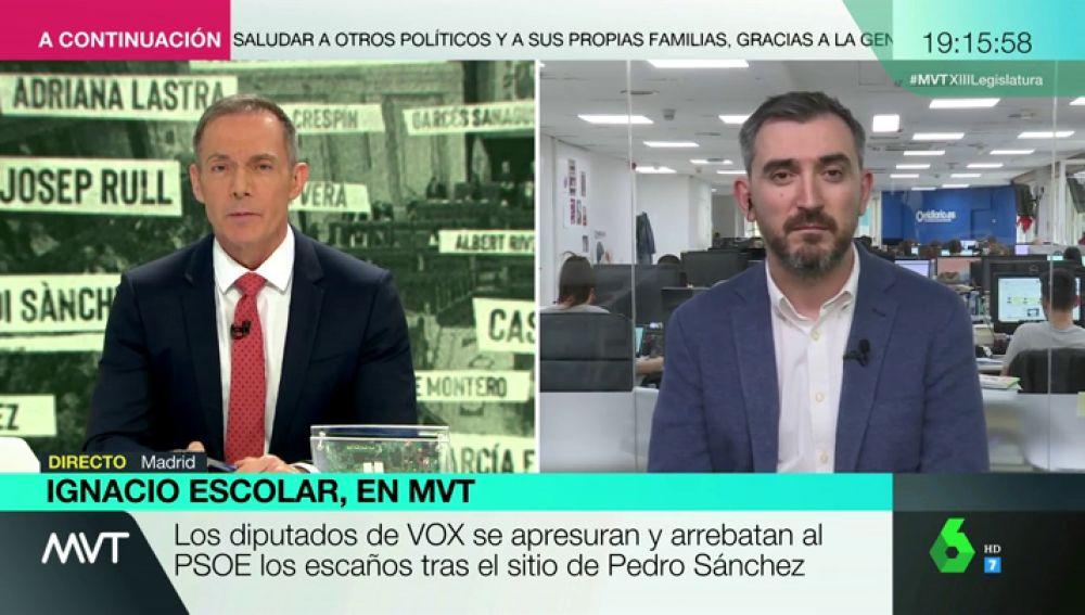 """Ignacio Escolar: """"Todo lo de Vox en el Congreso ha sido una provocación"""""""