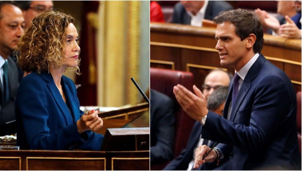Meritxell Batet, presidenta del Congreso, y Albert Rivera, líder de Ciudadanos
