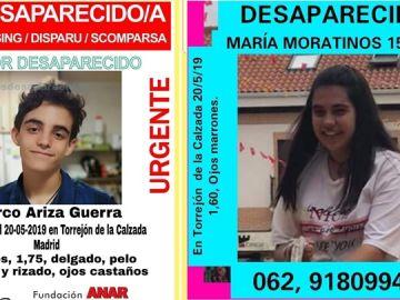 Los menores desaparecidos en Torrejón de la Calzada