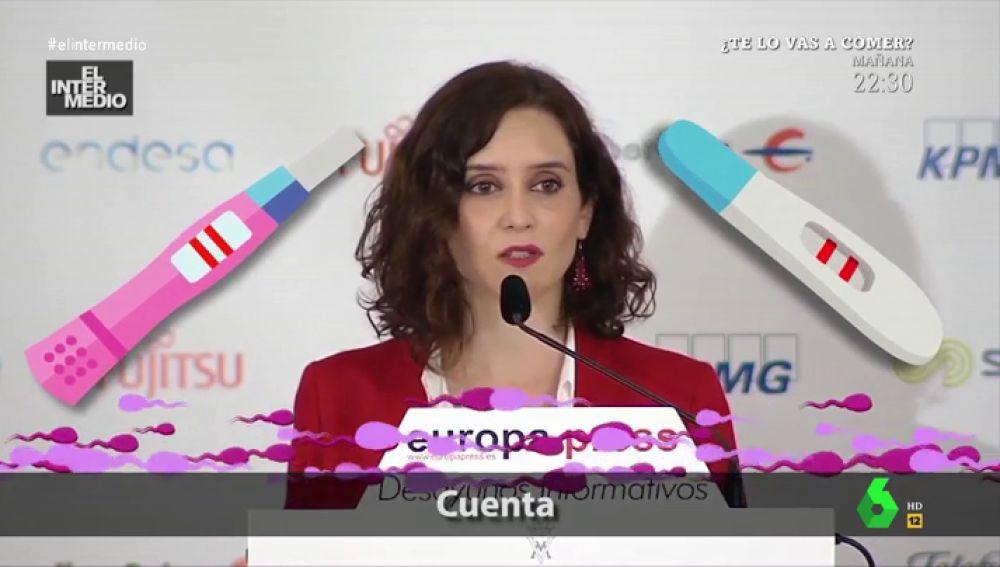 """Dani Mateo descubre un nuevo 'pepinazo' musical de Isabel Díaz Ayuso: """"Suena en todos los centros de planificación familiar"""""""