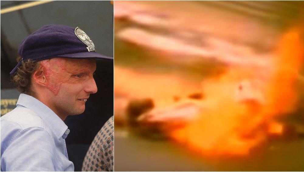 El accidente de Niki Lauda en el GP de Alemania de 1976