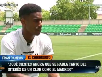 """Junior Firpo: """"Mi padre se pone como loco cuando lee que el Real Madrid está interesado en mí"""""""