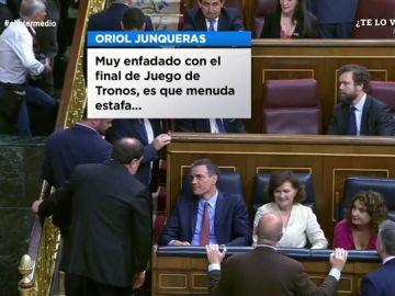 """El Intermedio contrata a un lector de labios para saber qué se dijeron 'exactamente' Junqueras y Sánchez: """"Ahora quizás empiece con 'Vis a Vis'"""""""