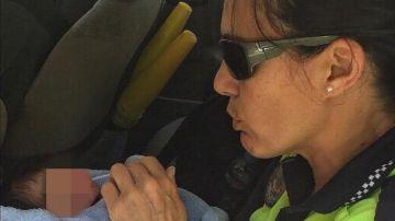 Bebé abandonado en Murcia rescatado por la Policía