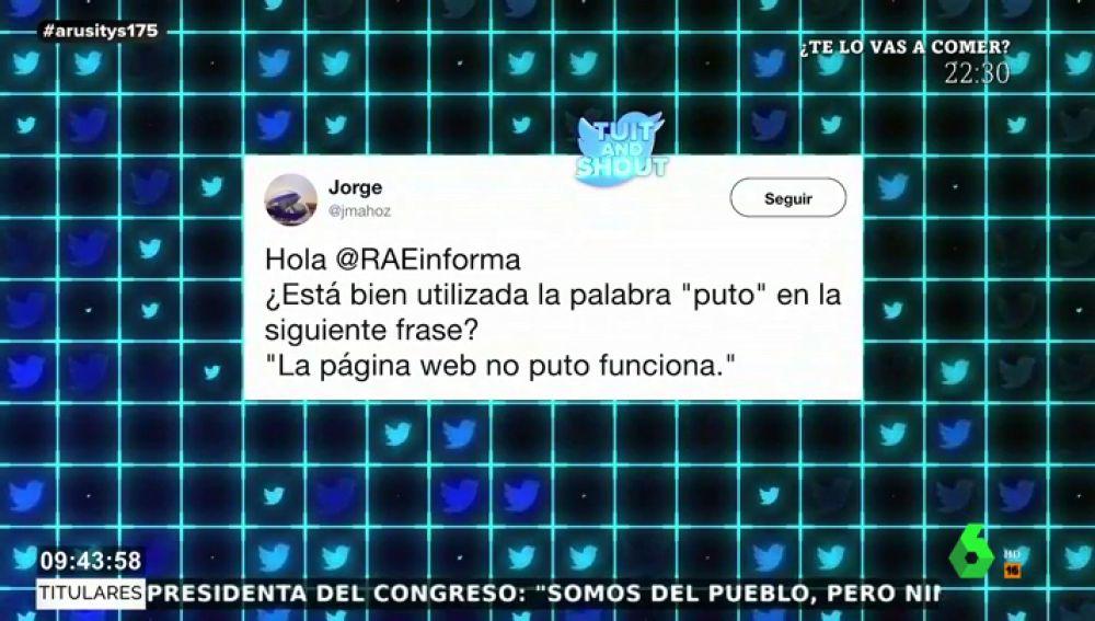 """La viral respuesta de la RAE a la duda de un usuario de Twitter: """"Se puede escribir 'me putoencanta'"""""""