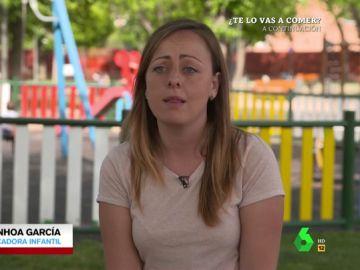 """Ainhoa García, educadora infantil, denuncia la precariedad laboral: """"Además de educar, tengo que responder a las necesidades de 14 niños a la vez"""""""