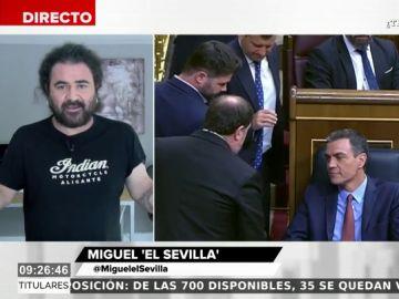 """El llamamiento de El Sevilla sobre la conversación entre Pedro Sánchez y Junqueras: """"Tienen que hablar porque así se entiende la gente"""""""