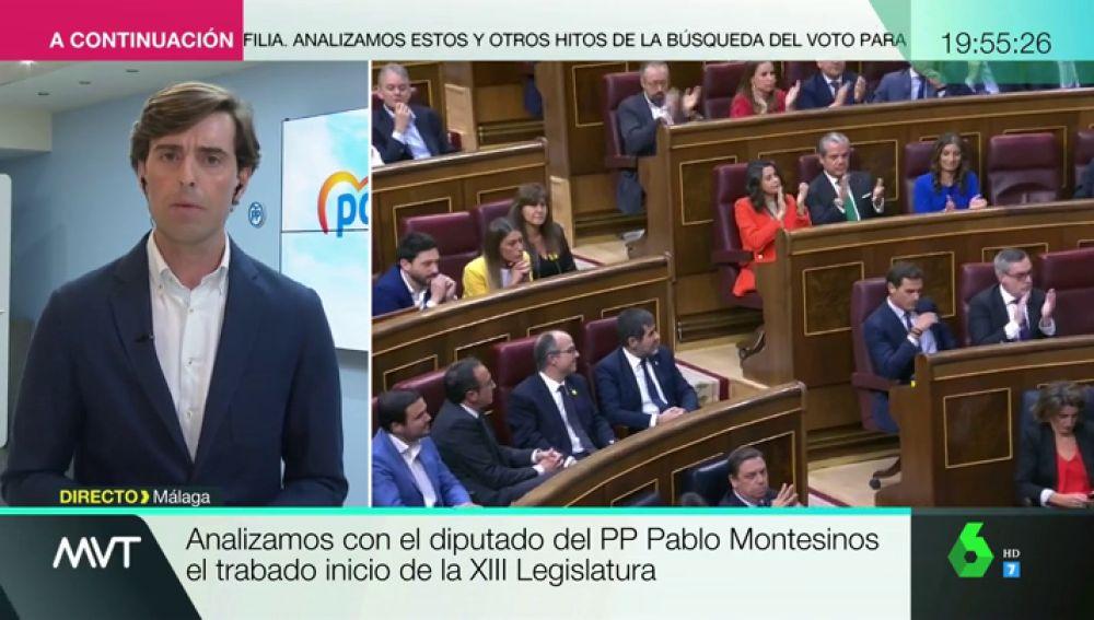 """Pablo Montesinos, sobre el inicio de la Legislatura: """"No entendemos cómo en la sede de la soberanía nacional se permite que nos insulten"""""""