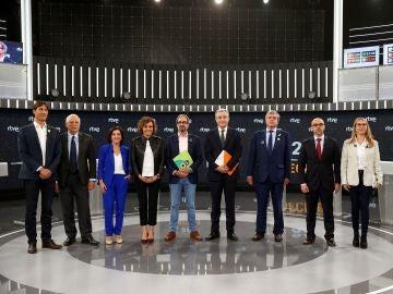 Los candidatos al Parlamento Europeo en el debate de TVE