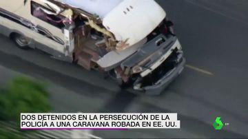 Dos ladrones a bordo de una autocaravana protagonizan una violenta persecución policial en Los Ángeles