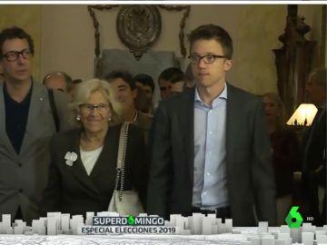 Los candidatos Íñigo Errejón y Manuela Carmena