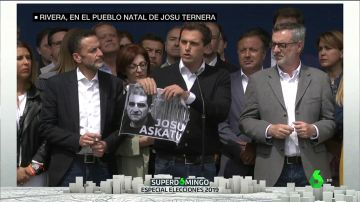 Albert Rivera rompe una foto de Josu Ternera en Miraballes