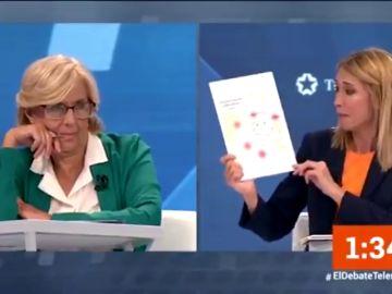 """El debut de Silvia Saavedra (Cs) que deja perpleja a Carmena: acusa a Madrid Central de subir los """"niveles de nitrógeno"""""""