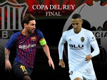 Barcelona vs Valencia, final de la Copa del Rey