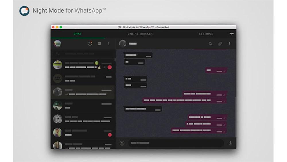 Modo noche WhatsApp