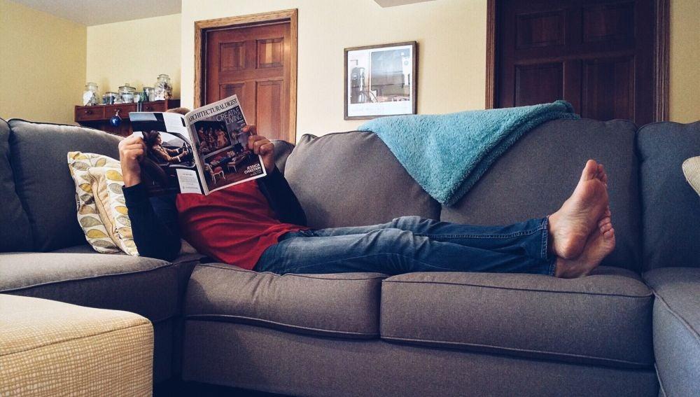 Durmiendo en el sofá