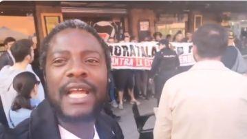 Bertrand Ndongo, afiliado de Vox, ha denunciado el escrache en las redes