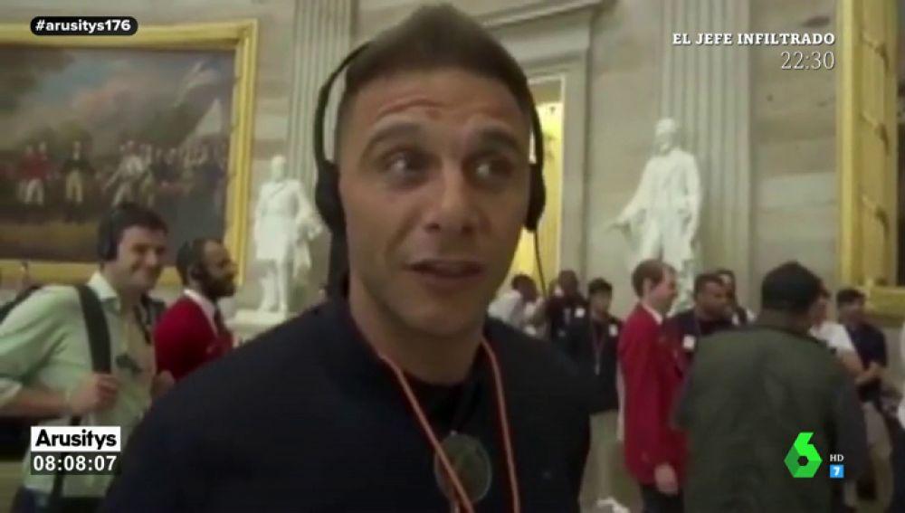 """Joaquín la lía en el Capitolio de Estados Unidos: """"¿Quién coño ha limpiado el suelo?"""""""