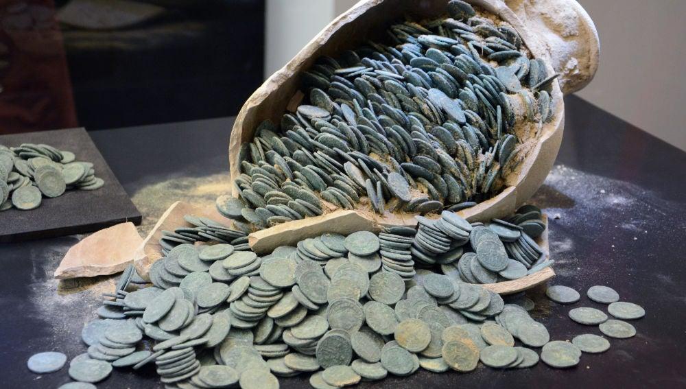 El tesoro romano de Tomares tiene un valor de casi medio millon de euros