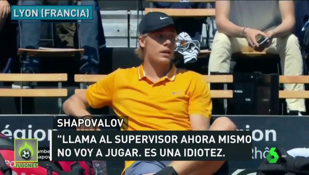 """El monumental enfado de Shapovalov con el juez de silla: """"Es lo más ridículo que he visto en mi vida"""""""
