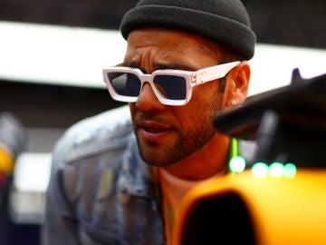 Dani Alves durante su Gran Premio de España