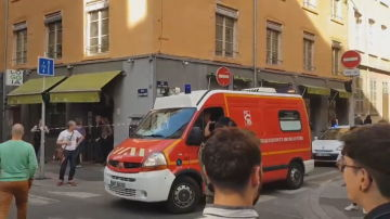 Imagen del lugar de la explosión en Lyon