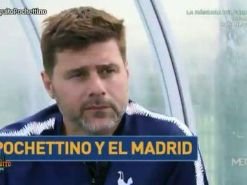 La sonrisa de Pochettino al ser preguntado por el Real Madrid