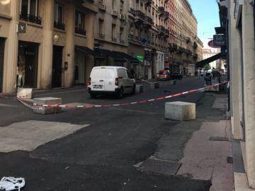 Lugar de la explosión en Lyon