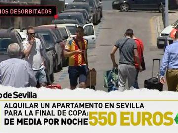 Los alquileres en Sevilla se disparan por la final de la Copa: ¡550 euros de media por noche!
