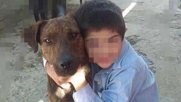 El perro Fido con el pequeño Martín